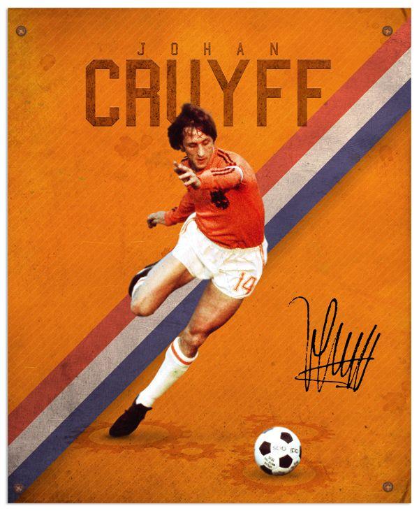 World Cup legends by Emilio Sansolini, via Behance #soccer #poster #cruyff