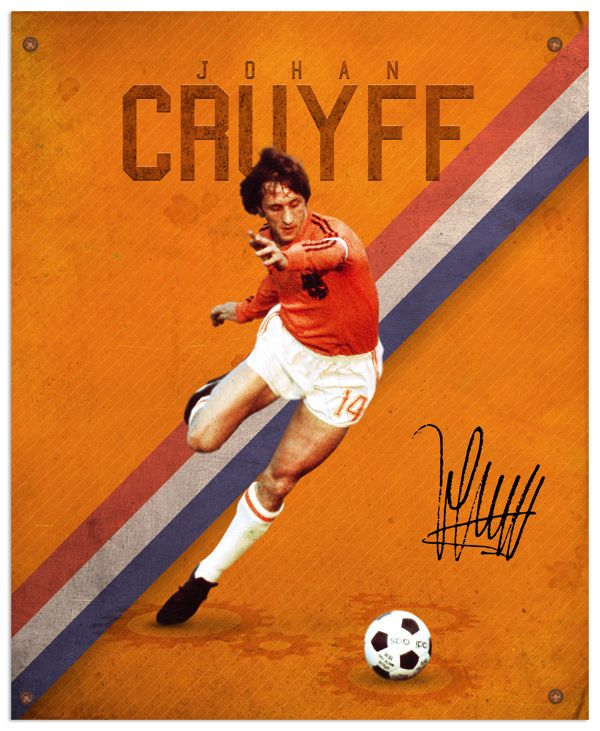 World Cup legends by Emilio Sansolini, via Behance #soccer #poster #cruyff