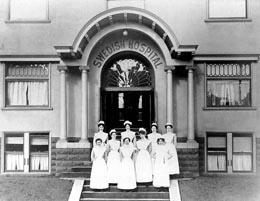 Nursing staff, Swedish Hospital, 1733 Belmont Avenue, Seattle, 1910