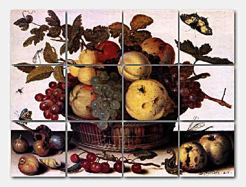 Van Der Ast Fruit Basket Marble Mural Backsplash Kitchen
