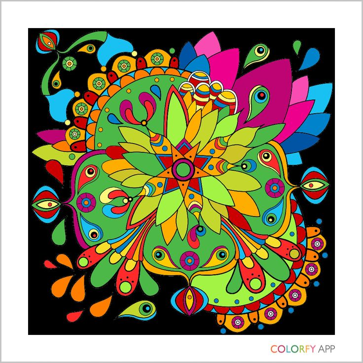 By @proctorlisac !  #colorfy #colorfyapp #getinspired #exotic #coloring #book #beautiful #colorful #colors #palette