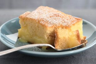 Warm Winter Lemon Cake- basically a box of cake mix and two boxes of pudding mix. I made this last night- very easy and it was delicious! We ate it warm with a small scoop of vanilla ice cream on top. Be sure to put the baking sheet under your 13x9 pan. Mine did bubble over a little on the short sides.