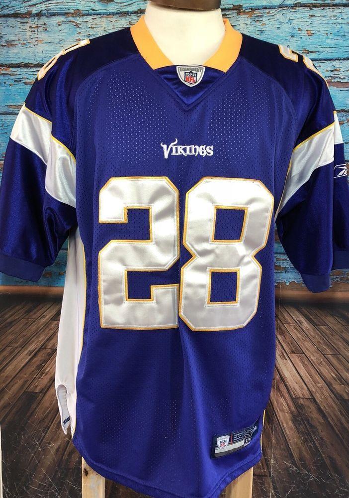 Reebok NFL Adrian Peterson Minnesota Vikings Men s Sz 50 Jersey Sewn  28  Footbal 33522fde1