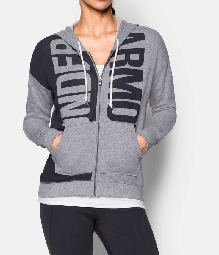 Women's Under Armour Favorite French Terry. From the gym to coffee dates with friends, this piece  will quickly become a go-to. If there's such thing as too comfortable, this is it.