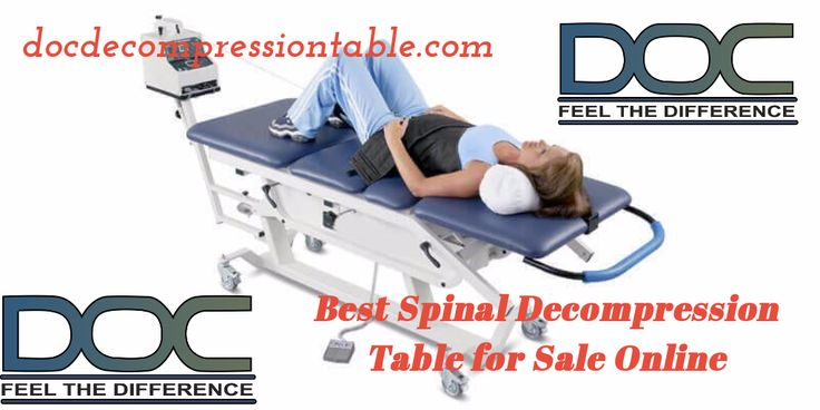 Buy Spinal Decompression Equipment Online  Spinal decompression table is known to be a good reliever for the lower back pain. The table has an automated control and comes with a digital command center. It provides elevation, lumbar flexion, and lumbar extension.