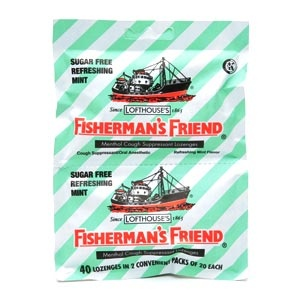 Fisherman's Friend Menthol Cough Suppressant Lozenges, Refreshing Mint