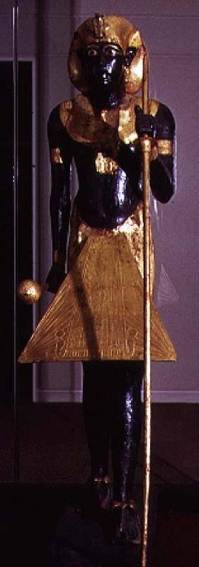 Egyptian - Life size statue of Tutankhamun from the Tomb of Tutankhamun (c.1370-1352 BC) New Kingdom