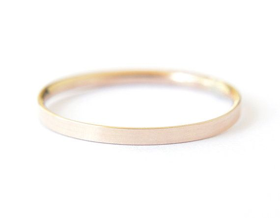 Gold filled flat band 2mm gold ring simple gold band by edor