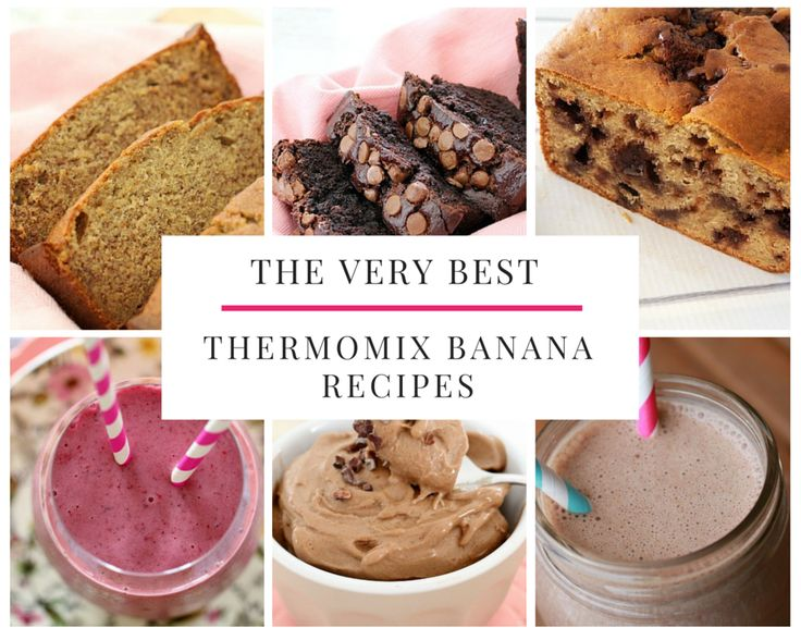 We've put together a collection of the very best Thermomix banana recipes.... and they really are the most delicious recipes for using up your ripe bananas!