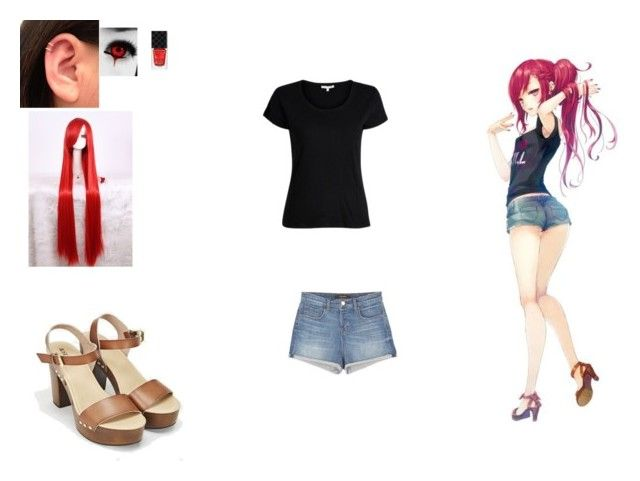GIRL RED HAIR by mayleneholm on Polyvore featuring J Brand, JustFab and Gucci