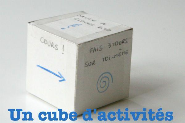 un cube d'activités jeu pour anniversaire
