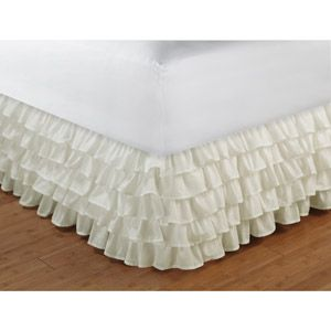 jewelry nyc MultiRuffle Bed Skirt  home is wherever i am with you