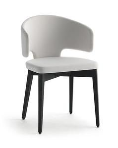 bdbd5a182dce Pretty Chair - Wooden Legs Collection  Pretty Designer  Solange Riturante  Upholstered plywood shell with
