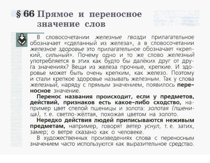 Переносное значение слов учебник поляков для 2 класса