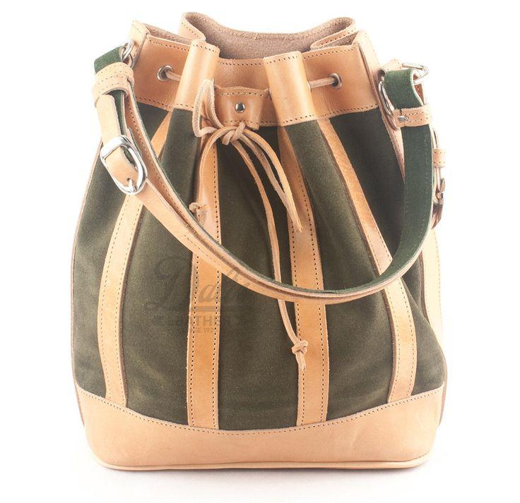 Δερμάτινη Γυναικεία Τσάντα Κούρος, Καστόρι Πράσινο - Δέρμα Φυσικό, Model 525 #handbags #leatherhandbags #leatherbag #bag #handmadebag #womenbags #suedebags #suedehandbags #greenbags #greenhandbags