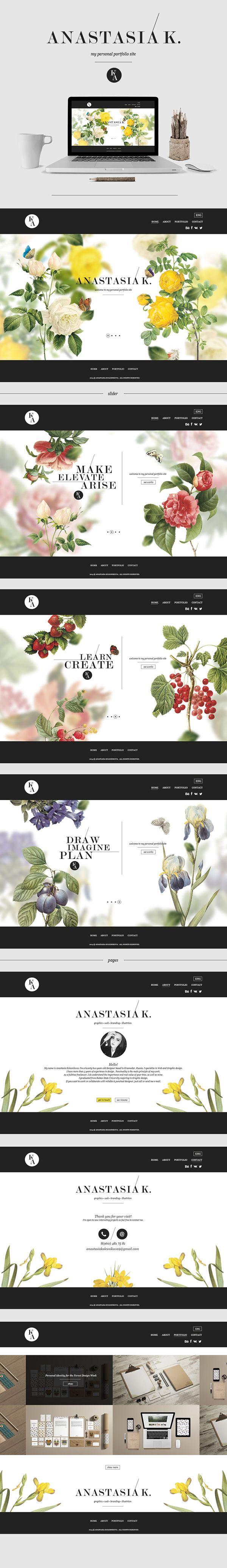 古典雅緻 個人網頁設計 | MyDesy 淘靈感
