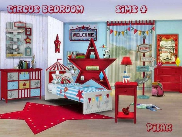 The Circus Has Arrived . The Fun Begins Found In TSR Category U0027Sims 4 Kids  Bedroom Setsu0027