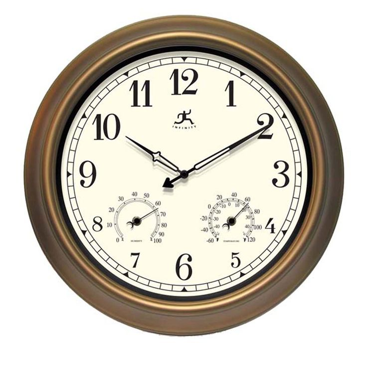 Infinity Instruments 12144CP-1679 The Craftsman Indoor/Outdoor Wall Clock | ATG Stores