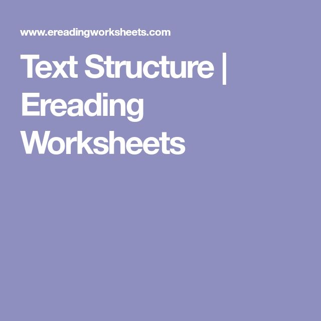 Best 25+ Text structure worksheets ideas on Pinterest ...