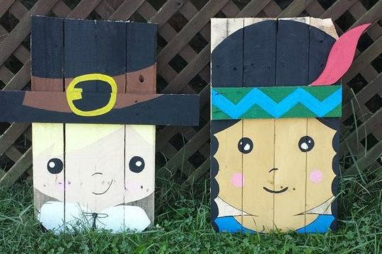 Cute Thanksgiving Couple/ Pilgrim Boy & by TheWheelPrespective