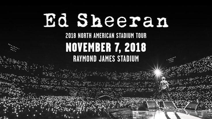 Ed Sheeran | Raymond James Stadium | November 7, 2018 #YES Tickets go on sale October 20th, head to edsheeran.com for more information.