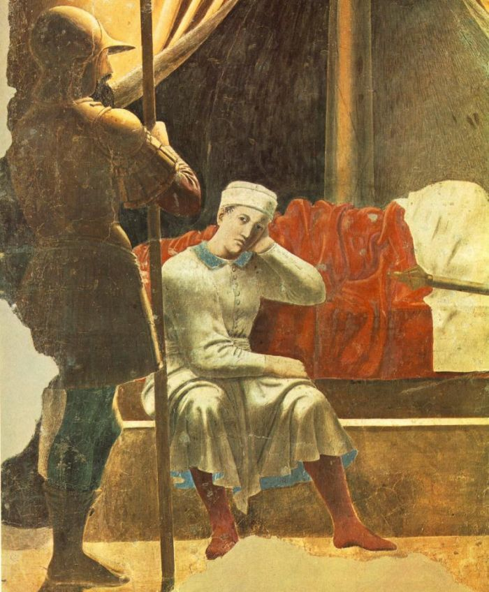 Constantine's Dream (detail) : PIERO della FRANCESCA : Art Images : Imagiva