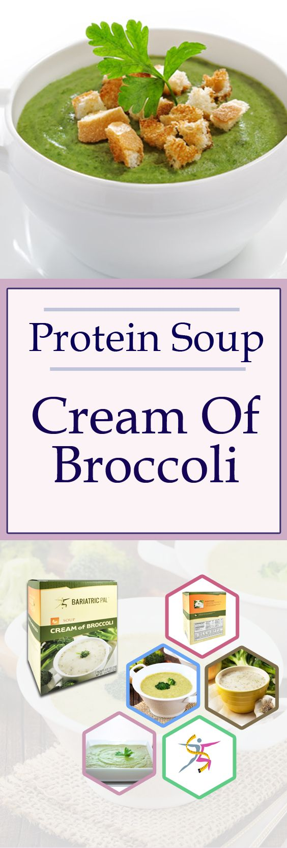 BariatricPal Protein Soup is your mealtime solution. Just add water and enjoy your instant high-protein soup. BariatricPal Protein Soup – Cream of Broccoli is a creamy comfort food without the extra fat and calories. Each bowl has only 80 calories and no fat! Made from real broccoli, it has 15 grams of protein. It can make you feel better pre-op and post-op while giving you the protein you need. 7 packets per box.