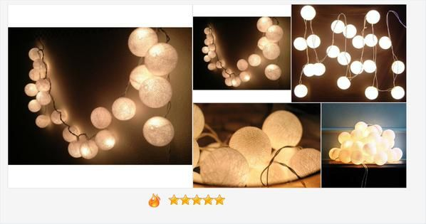 "PromotePictures on Twitter: ""@fromthailandsho String Lights - White Cotton Ball, wall hanging, home http://t.co/ZYQYxztz6h http://t.co/bkOczzVsqY http://t.co/7m78KDUhUy"""