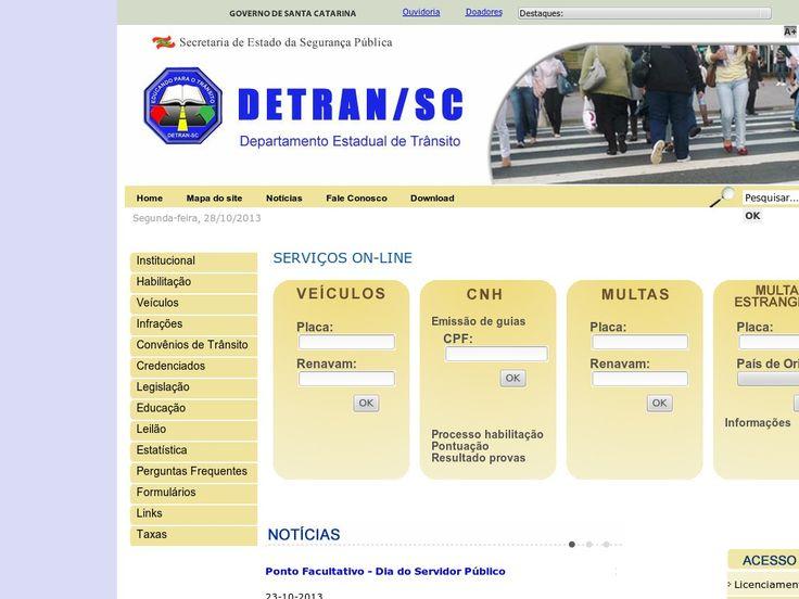 www.detran.sc.gov.br Entrar Agora - Pergunte Tecnologia