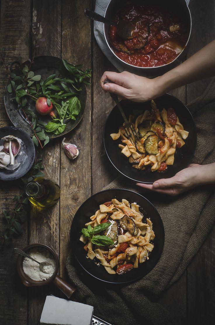 Fusilli homemade alla norma- Sicilian-Style Pasta with ...