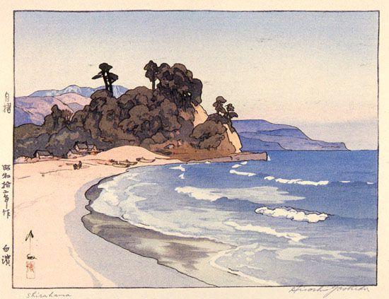 Shirahama  by Hiroshi Yoshida, 1937