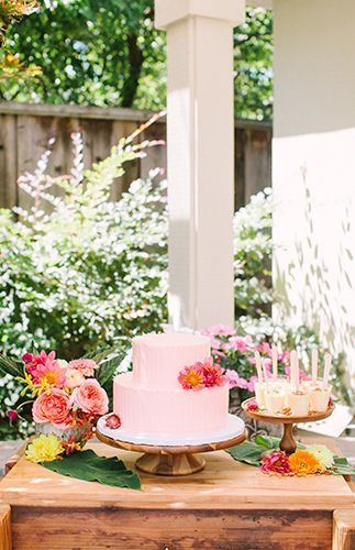 22566c104778 Pink   Yellow Tropical Bridal Shower - Inspired by This
