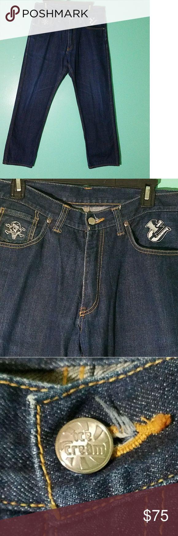Icecream Jeans. Billionaire Boys Club 34x28 Billionaire Boys Club Icecream Jeans  100% Cotton  34waist ? 28 inseam Not a single flaw look brand new feel brand new Billionaire Boys Club Jeans