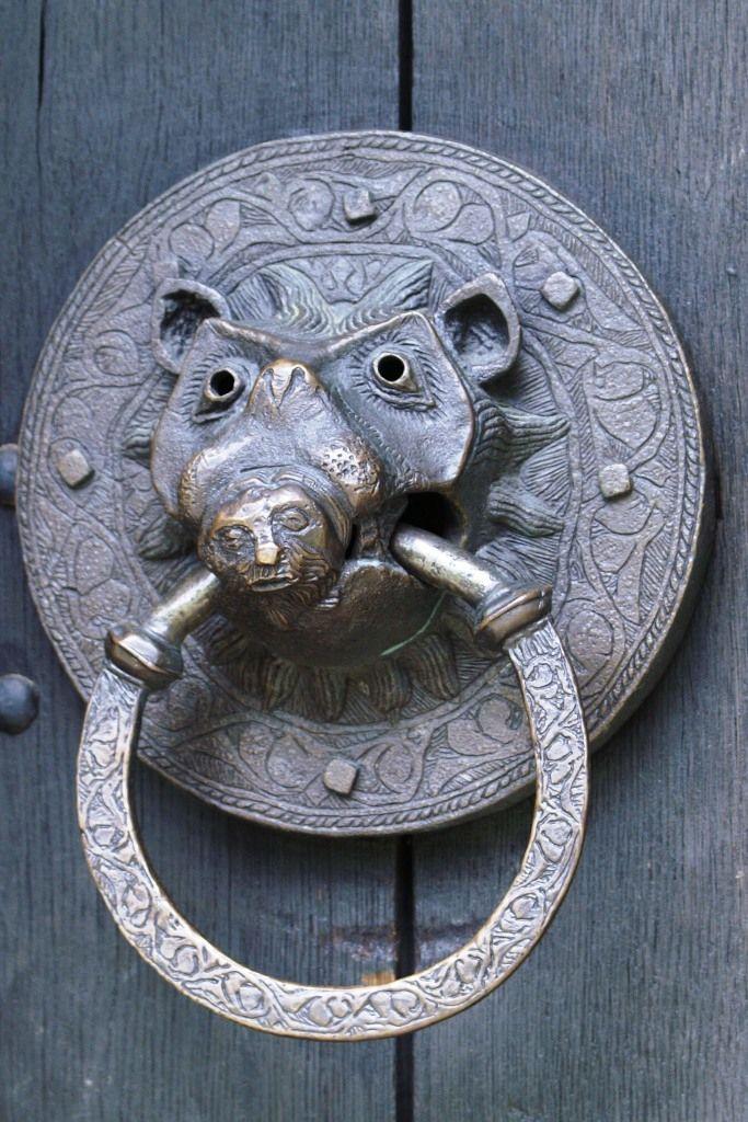 Unusual Door Knocker Adel Church Leeds Yorkshire