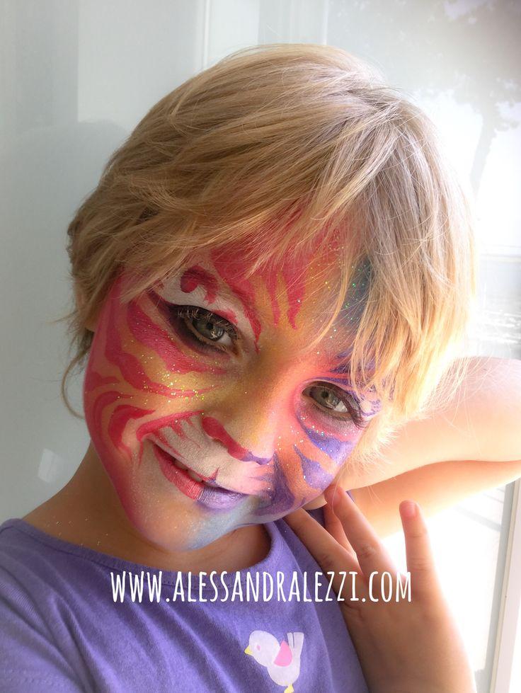 Tiger girl - face painting - Alessandra Lezzi - www.alessandralezzi.com