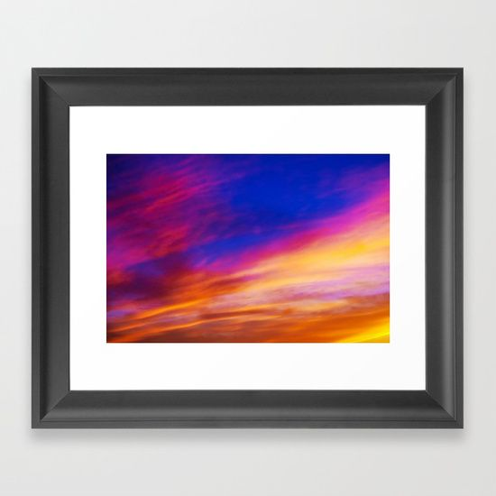 rainbow clouds Framed Art Print by Haroulita. Worldwide shipping available at Society6.com. Just one of millions of high quality products available.