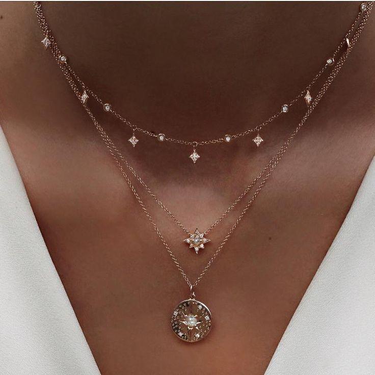 Twilight Choker-Halskette aus 14 Karat Gold und Di…
