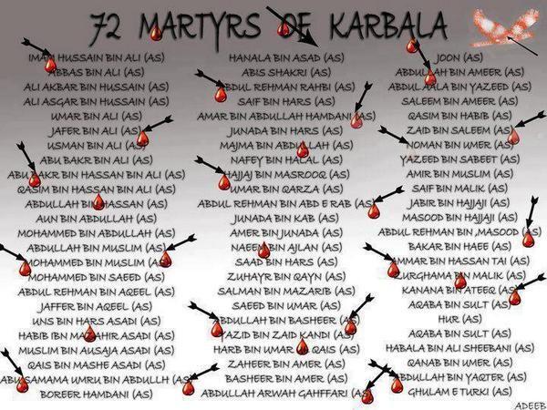 72 Martyrs of Karbala #HusseinLives | Salam ya hussain, Love