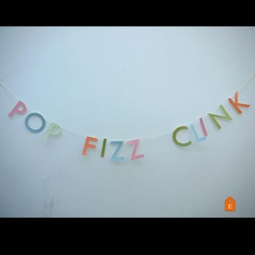 POP FIZZ CLINK! Happy #NationalProseccoDay Handmade banners and party decor by Paper Street Dolls