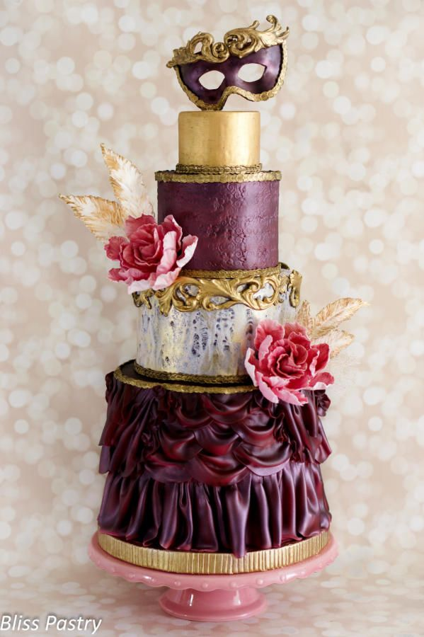 Italian Carnevale Wedding Cake