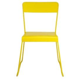 Chaise en métal Filao jaune