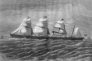 "RMS ""Atlantic"" was a transatlantic ocean liner -White Star Line that operated between Liverpool, United Kingdom, & New York City, United States. During the ships 19th voyage, on 1 April 1873, it ran onto rocks and sank off the coast of Nova Scotia, killing at least 535 people and the greatest disaster for the White Star Line prior to the loss of Titanic 39 years later."