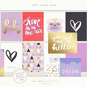 Project Life Love Lives Here vol 2 Printable Cards Personal Use Only ...love these!