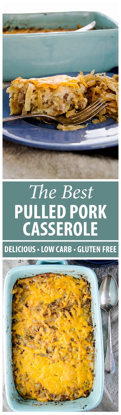 Comfort food doesn't even touch how soul satisfying this low carb pulled pork casserole will make you feel!