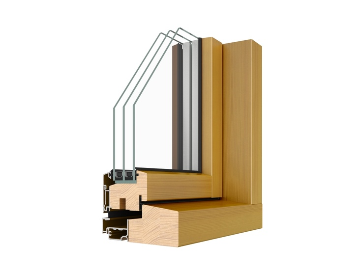 Combi Alu; a timber / aluminium composite triple glazed, outward opening, reversible casement series of windows & balcony doors