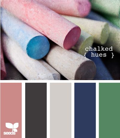 A palette inspired by chalks: For The Home, Colour, Colors Charts, Chalk Hue, Colors Combos, Design Seeds.Com Grey Navy, Colors Palettes, Colors Schemes, Colors Inspiration