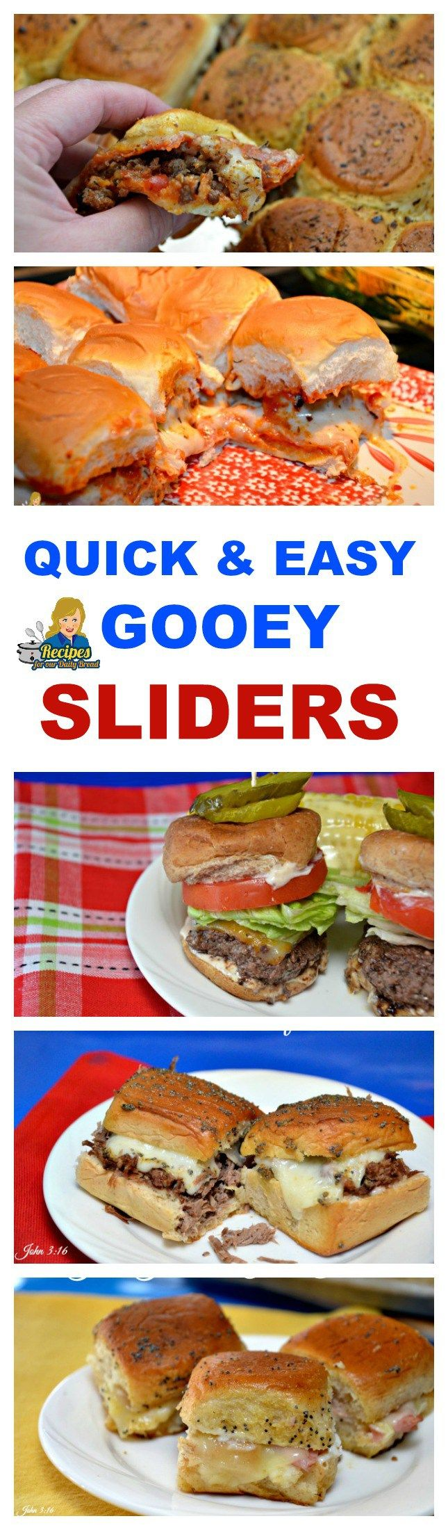 Are you looking for easy sliders to make for an appetizer, snack, or lunch?  They are perfect for watching football too.   What sliders will you find in this roundup?    How about some hot and gooey pizza, meatball, bison burgers, roast beef, ham & cheese, slow cooker pulled pork, buffalo chicken, bbq chicken and more.  Plus, some cold sliders including egg salad and chicken salad.  Most of these sliders are made on sweet Hawaiian rolls. SEE RECIPE…