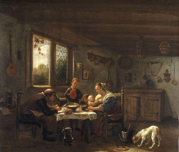 Jan Havickszoon Steen - J.Steen / Saying Grace / Paint./ C17