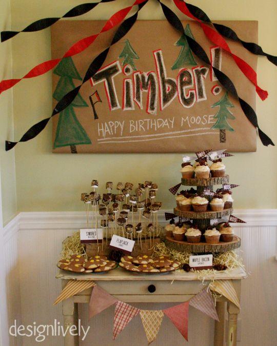 A Lumberjack Birthday Party