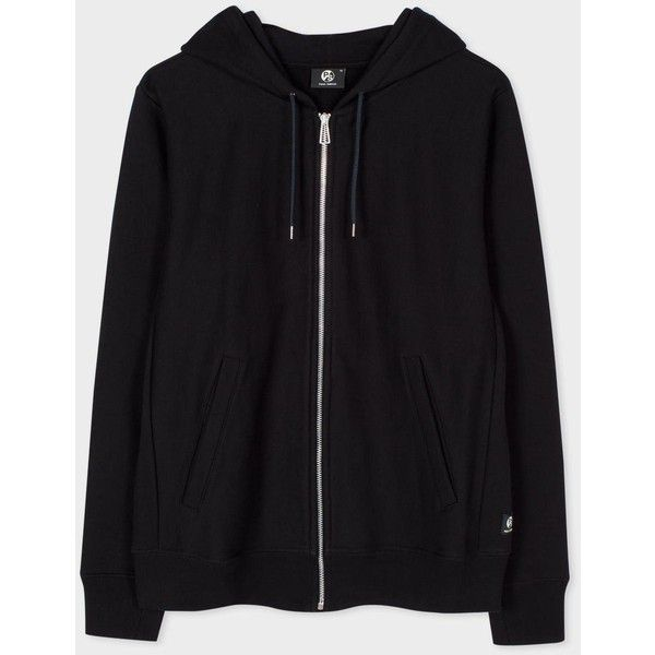 Paul Smith Men's Black Organic Loopback-Cotton Zip Hoodie ($145) ❤ liked on Polyvore featuring men's fashion, men's clothing, men's hoodies, black, mens hooded sweatshirts, mens hoodie, mens zip hoodie, mens hoodies and mens zip up hoodies